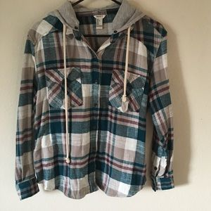 Forever 21 Hoodie Flannel